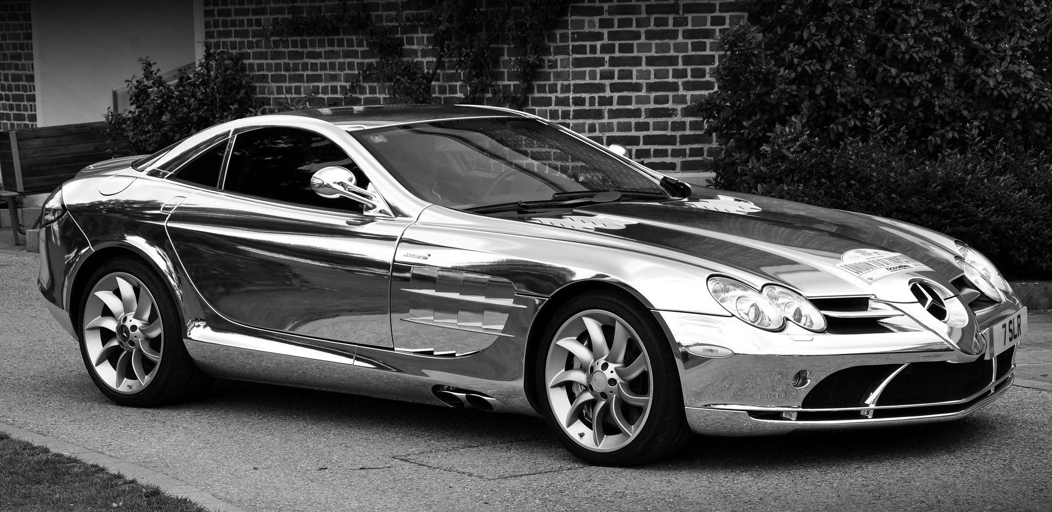 McLaren Mercedes SLR In Chrome