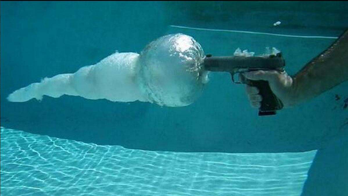 Bullet Fired Underwater