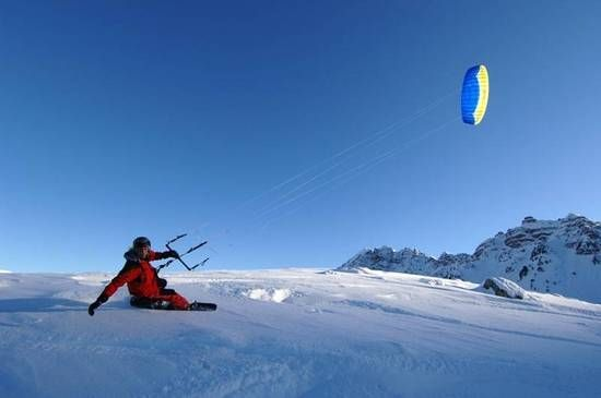 Kite Skiing In Canada