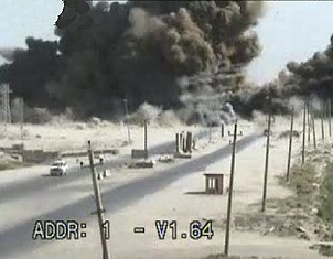 Massive Truck Explosion caught On Camera