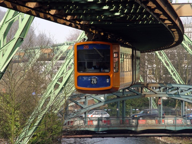 Suspended Monorail In Germany