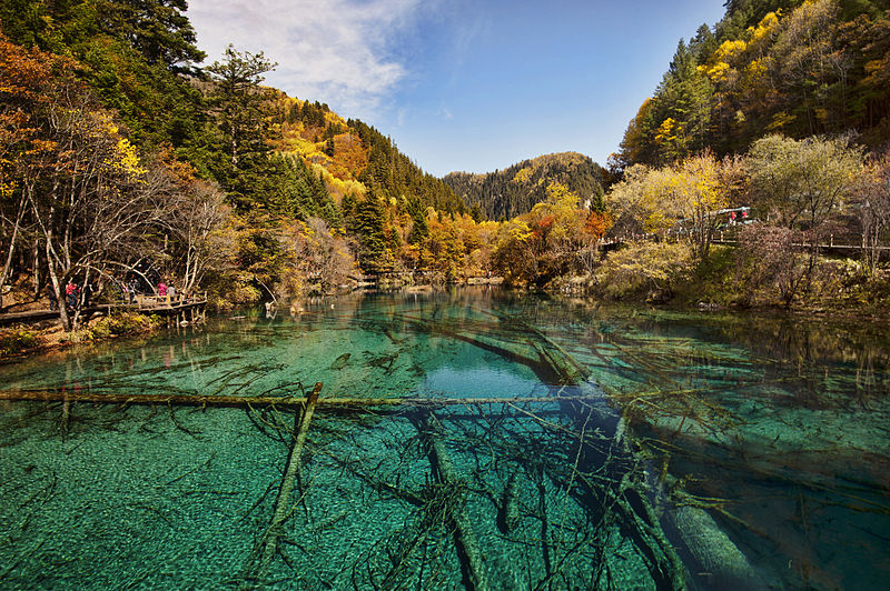 Five Colour Lake in Jiuzhaigou Valley