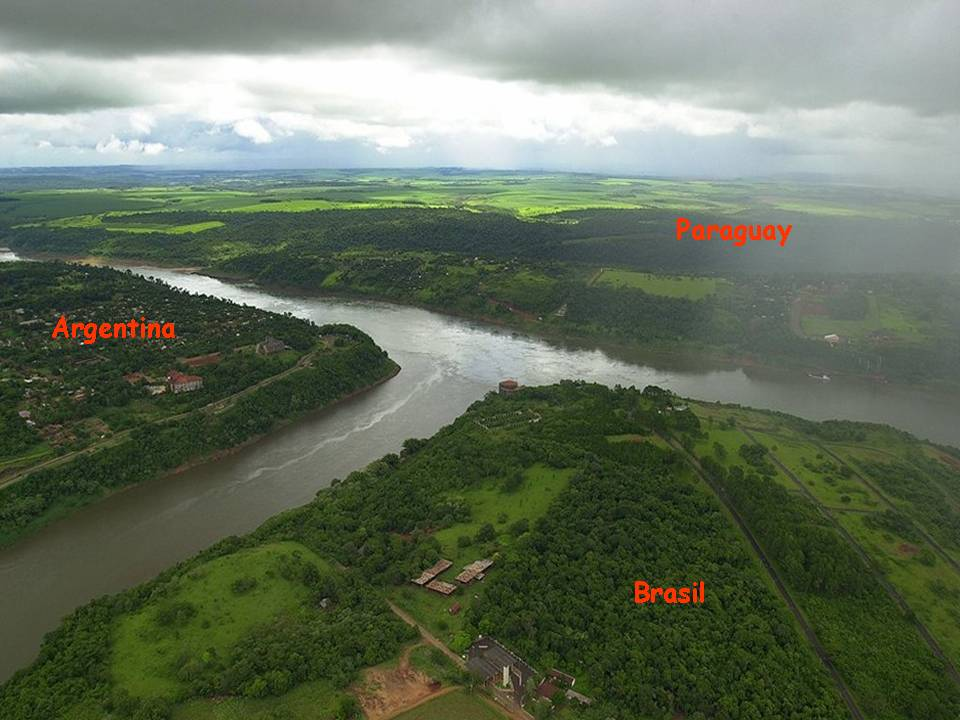 The Border Between Argentina, Praguay & Brazil