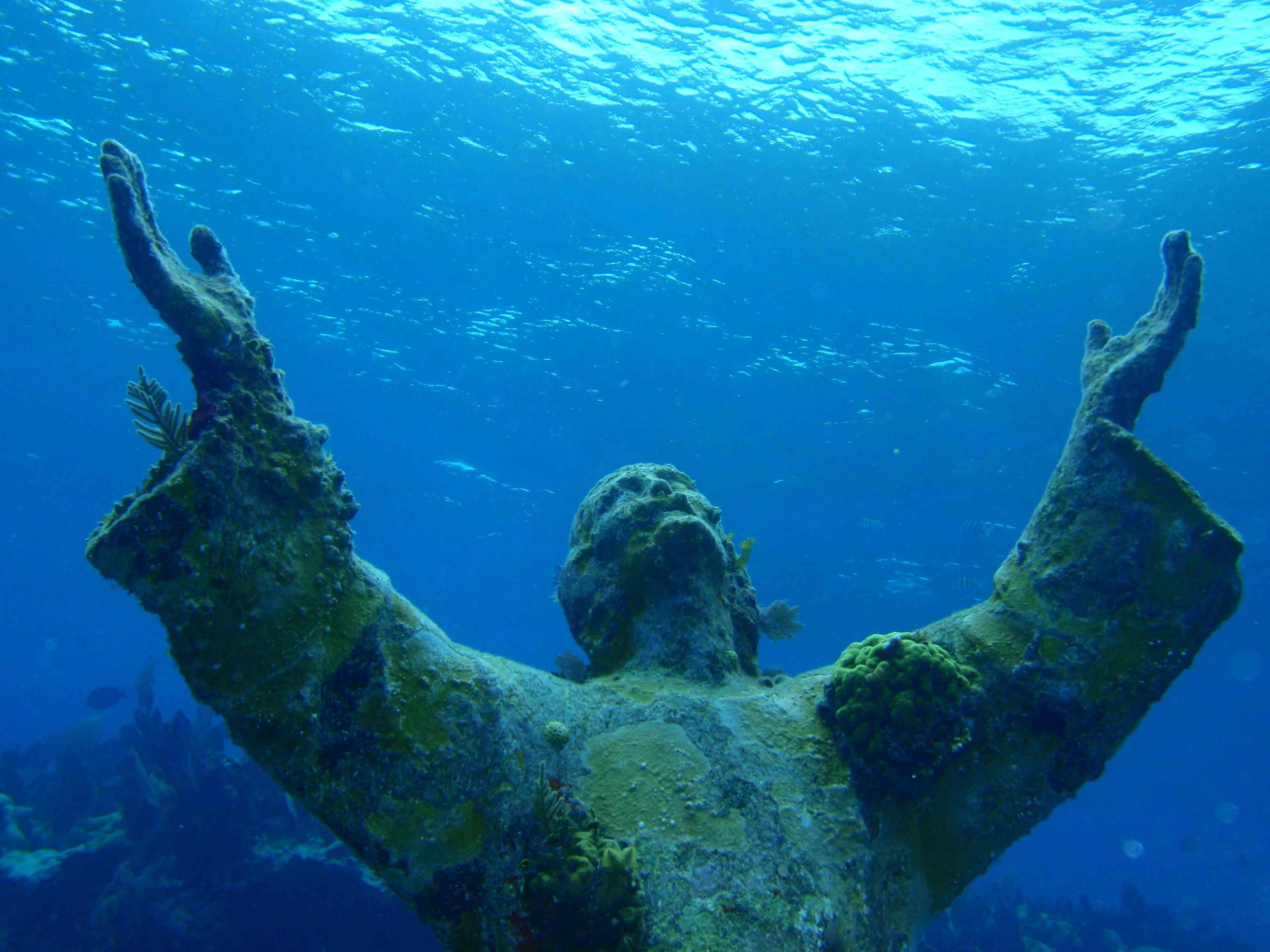 Underwater Statue Of Jeasus - Malta