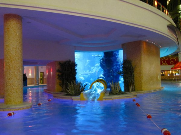 The Water Slide Through An Aquarium