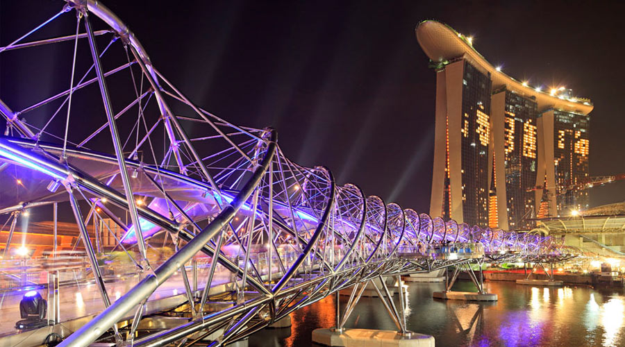 The Helix Bridge - Singapore