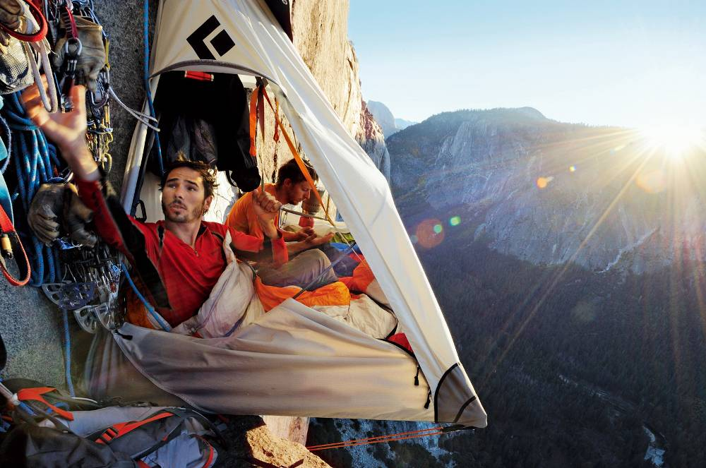 Camping On A Cliff With A Portaledge