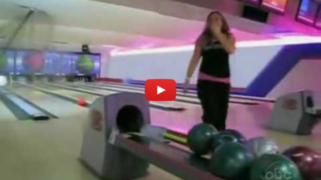 Woman Smashes Bowling Ball Through Ceiling