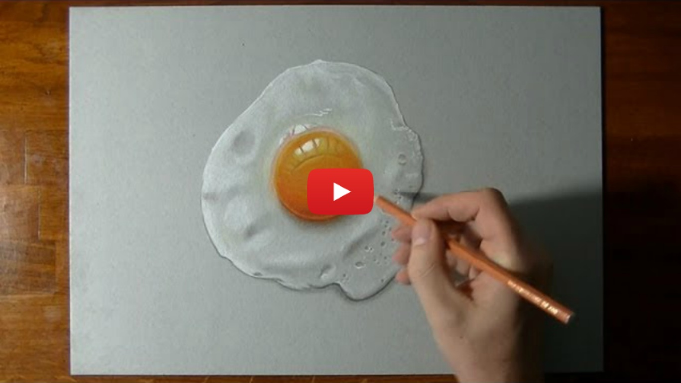 How To Draw A Perfectly Fried Egg