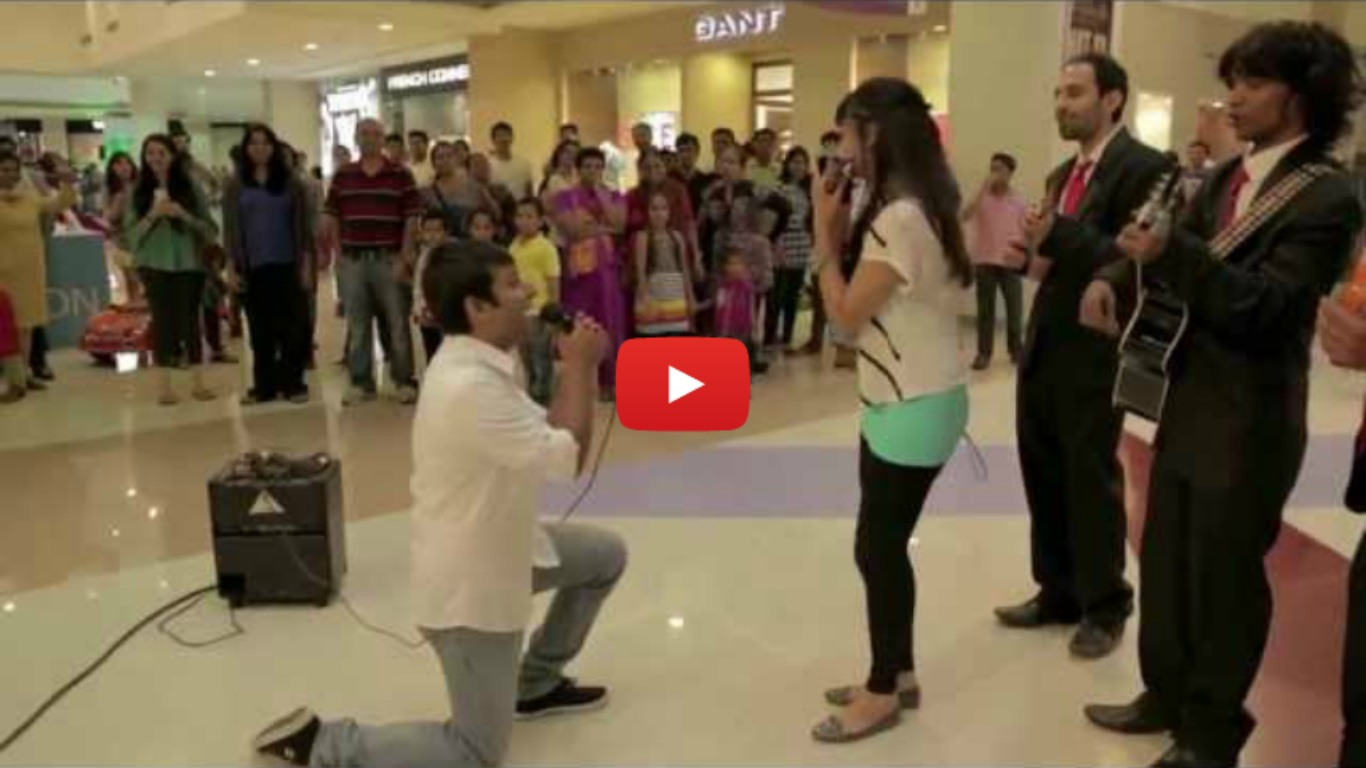 Proposal Fail At Dubai Mall Indian Guy