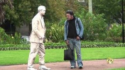 funny statue