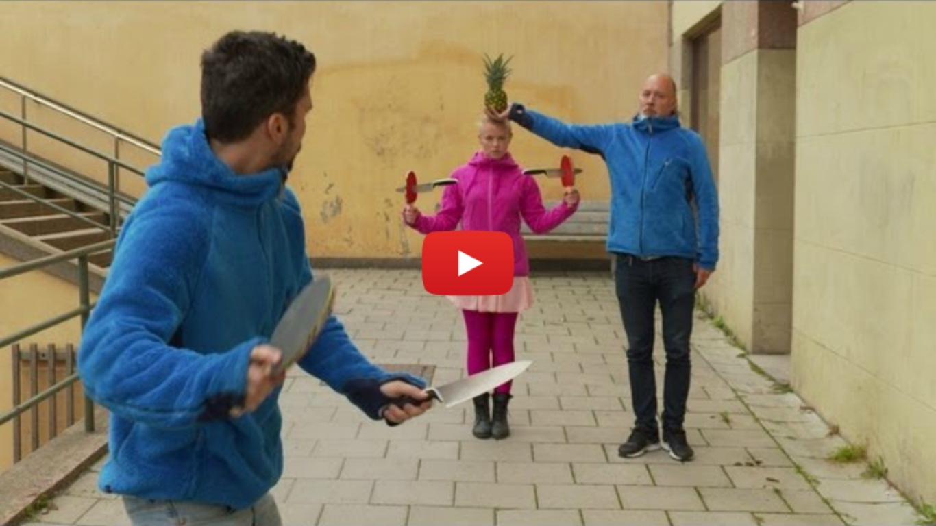 This Crazy Knife And Ping Pong Trick Is Too Good To Be Real