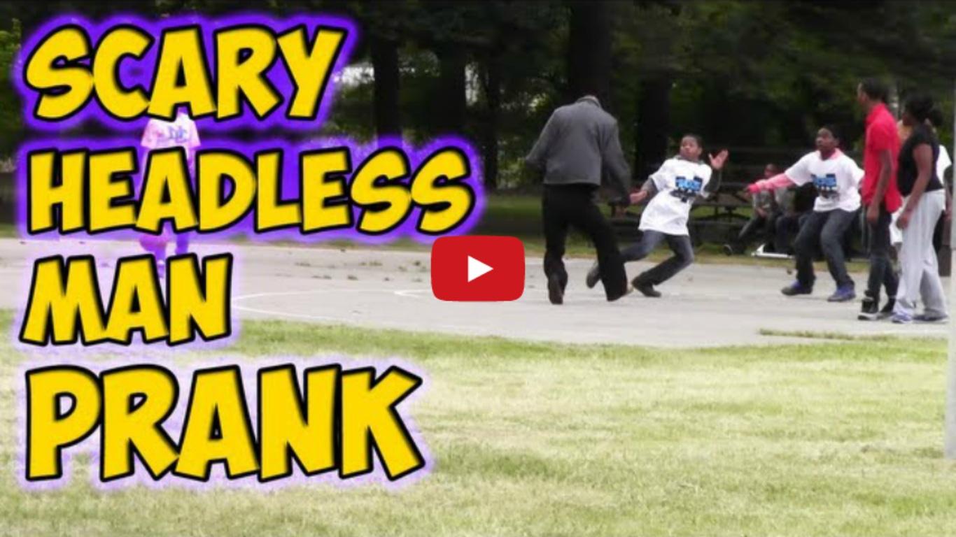 Scary Headless Man Prank