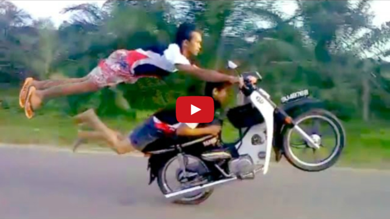 Insane Death Defying Moped Stunts By Two Crazy Talented Riders