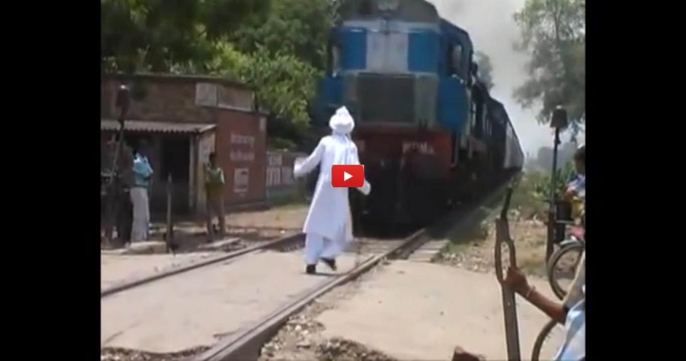 Old Man Vs Train
