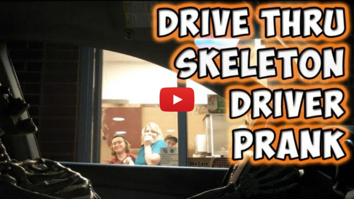 Drive Thru Skeleton Driver Prank