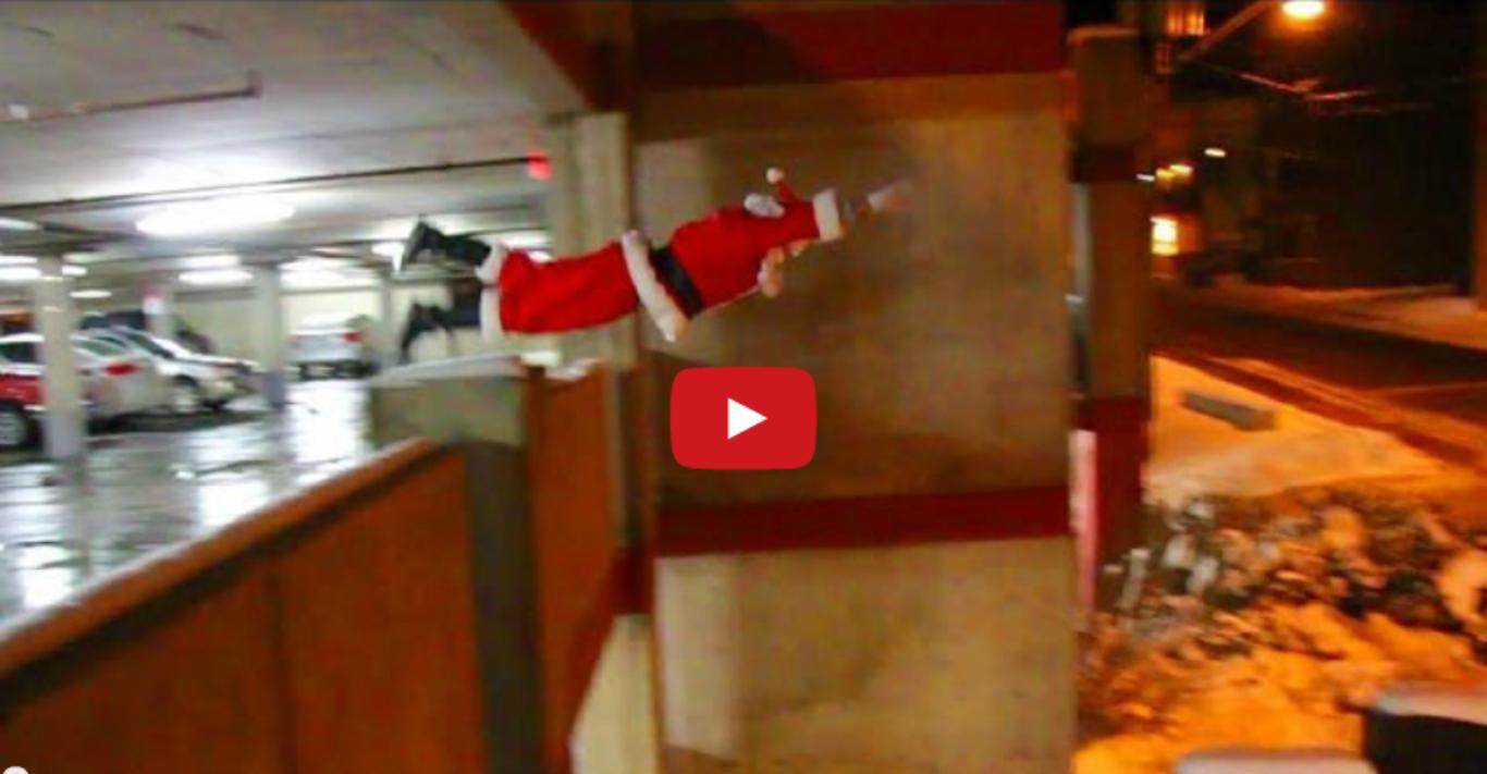 Santa Does Parkour