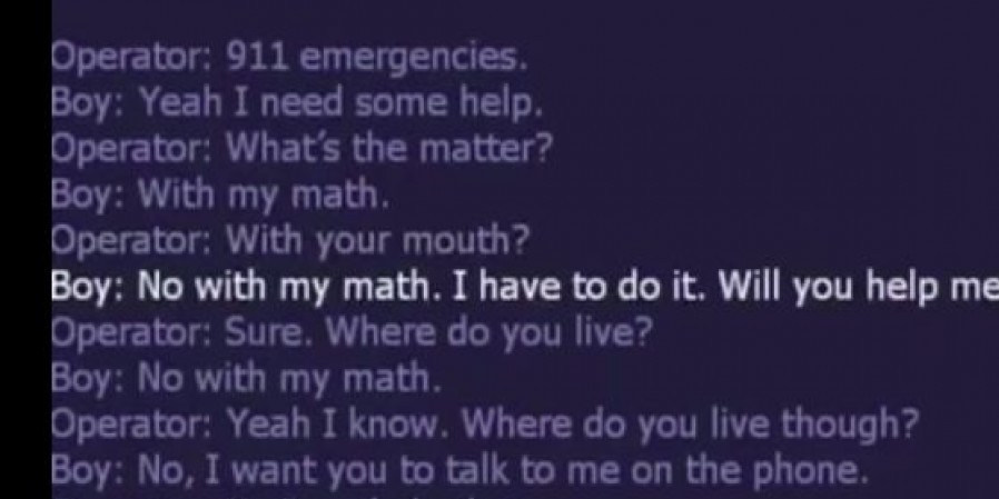 wimpy kid calls 911 for help with math homework